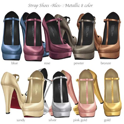G Field - Strap Shoes Alex metallic 8 colours by Cherokeeh Asteria