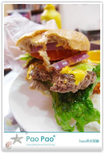 3mins美式餐廳-牛肉培根起士(全麥)