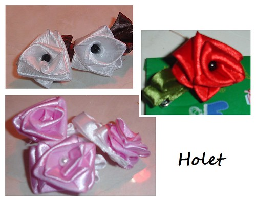 Rosas hechas con lazo by holete79