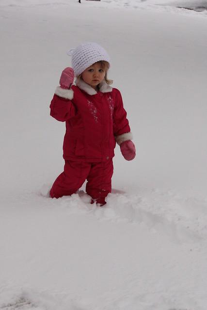 C in snow