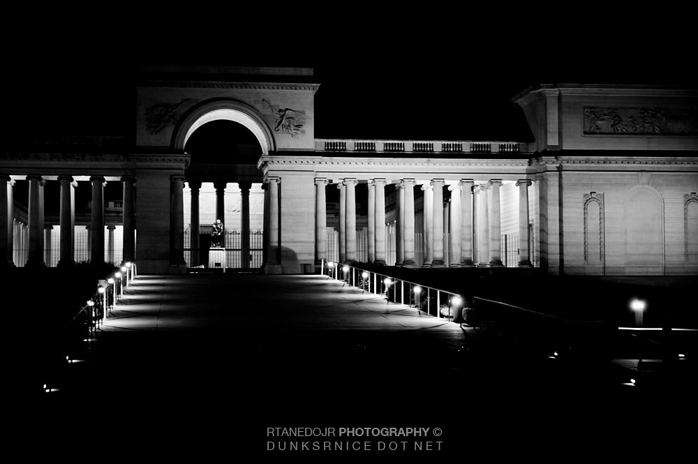Legion of Honor, San Francisco B&W.