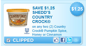 Country Crock Pumpkin Spice, Honey Or Cinnamon Spreads Coupon