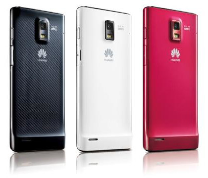 Huawei Ascend series: three colours to choose from.