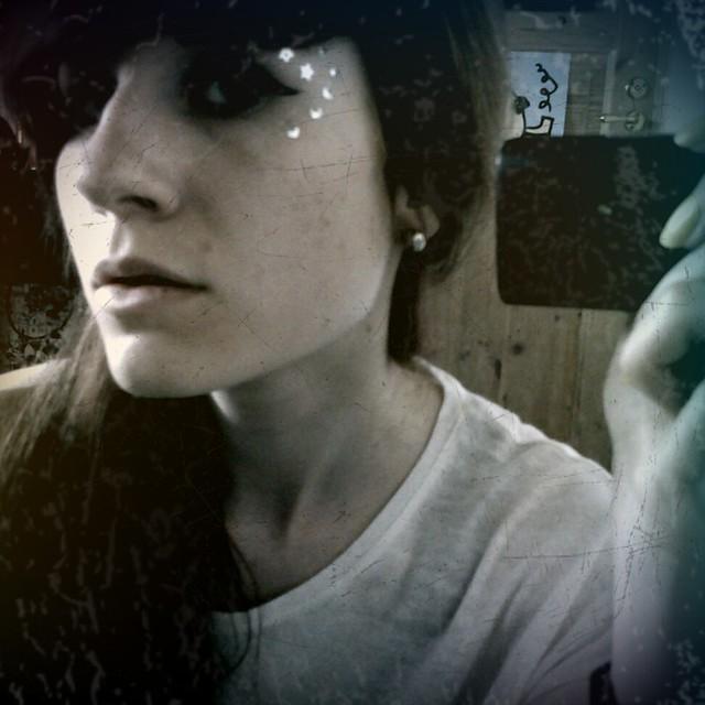 fotade i spegeln i maris rum