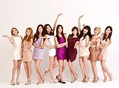 [フリー画像素材] 人物, 女性 - アジア, 集団・グループ, 少女時代, 韓国人 ID:201201180200