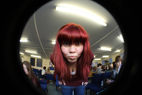 Hair dye, Fish eye. by Charlotte Judge