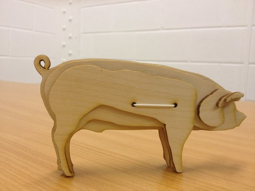 Laser Cut Piggy Bank