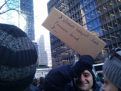 The nerdiest anti #sopa sign ever. #nytmsos