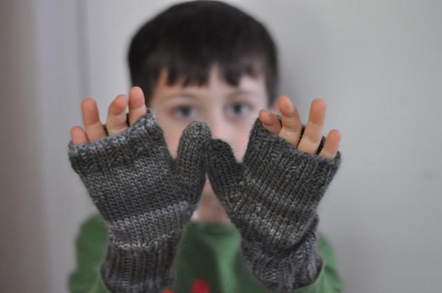 fingerless mitts.