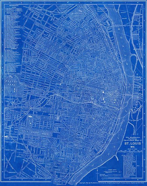 Old saint louis blueprints urban stl re old saint louis blueprints malvernweather Images
