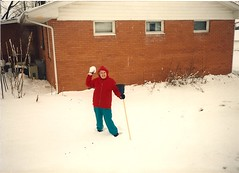 Mamaw in the snow