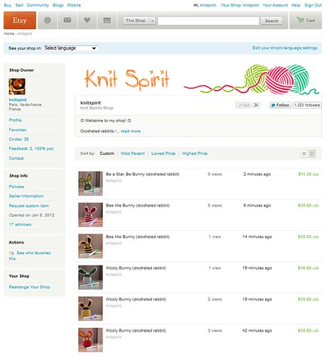 Knit Spirit Shop on Etsy