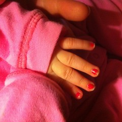 It's never too early for pink nail polish.