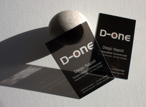 clear business cards D-one