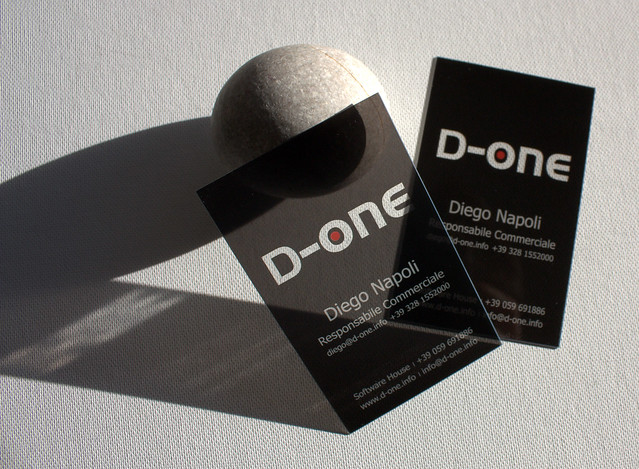 clear plastic business cards D one