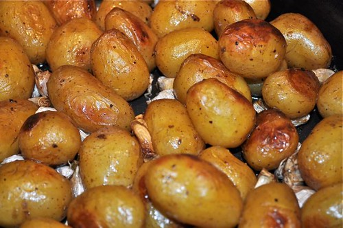potatoes roasted in garlic, butter & olive oil 15