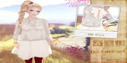 ASO! - Falda + Jersey dotknitwhitead by Cherokeeh Asteria