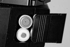 AA batteries in the Minolta 4000AF Flash