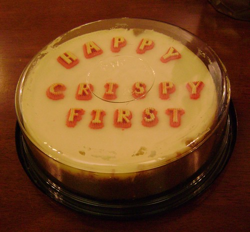 Crispy-First Birthday Cheesecake
