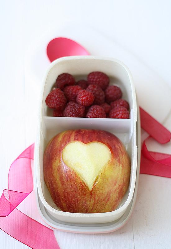 Manzana almuerzo San Valentín