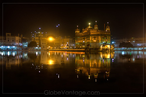 Amritsar Golden Temple night HDR 1