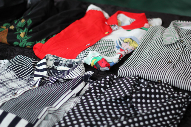 vintage polka dot blouses