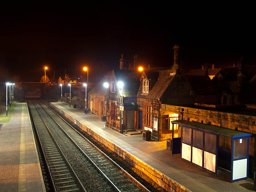 1000/708: 28 Jan 2012: Aspatria Station at night by nmonckton