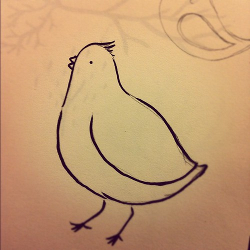 Quail bird drawing.