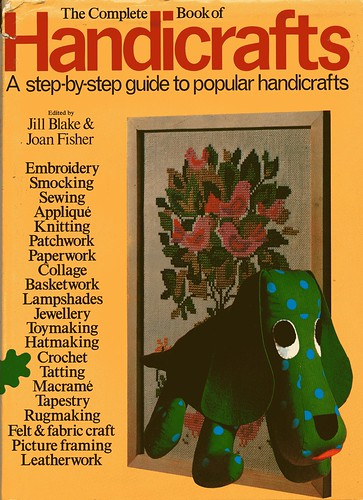 vintage handicrafts book cover