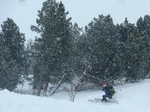 Intense snowfall