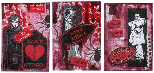 Bloody Valentine ATCs #1-3