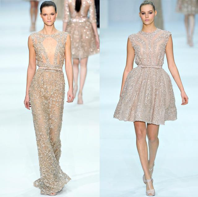 Elie Saab pastel dresses-Spring Couture 2012