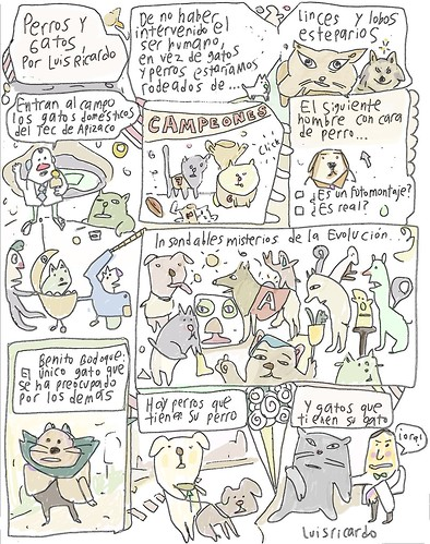 Perros y gatos: historieta por Luis Ricardo