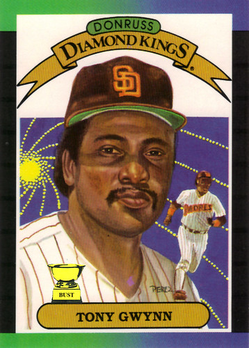 Baseball Card Bust Tony Gwynn 1989 Donruss Diamond Kings