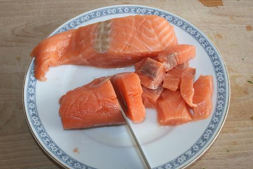 20 - Lachs schneiden / Cut salmon