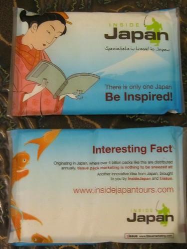 Inside Japan Tours tissues