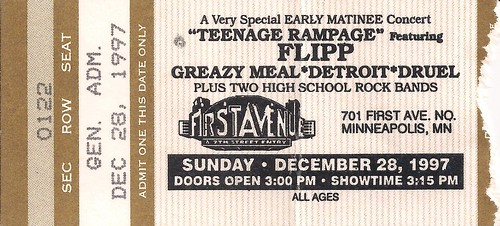 1997-12-28 Teenage Rampage Ticket