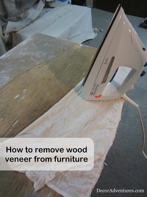 How to Remove Wood Veneer from Furniture