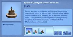 Spanish Courtyard Tower Fountain