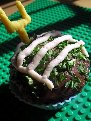 """Unbaked"""" Super Bowl raw food football cupcakes"""