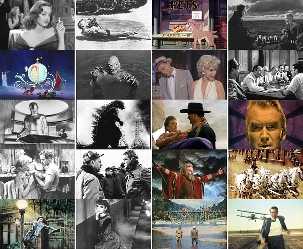 1950's movies quiz grid