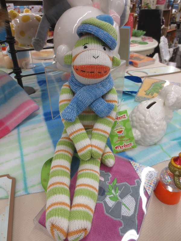 Sock monkey with accessories