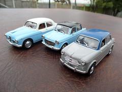 Italian Twotones: Alfa Romeo 1900 TI/Super: Fiat 1100 (2 versions)