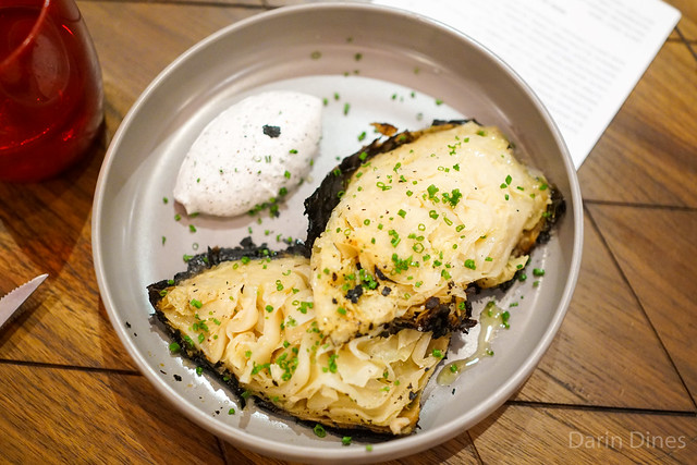 Cabbage Baked in the Embers Yogurt, Sumac and Lemon Zest