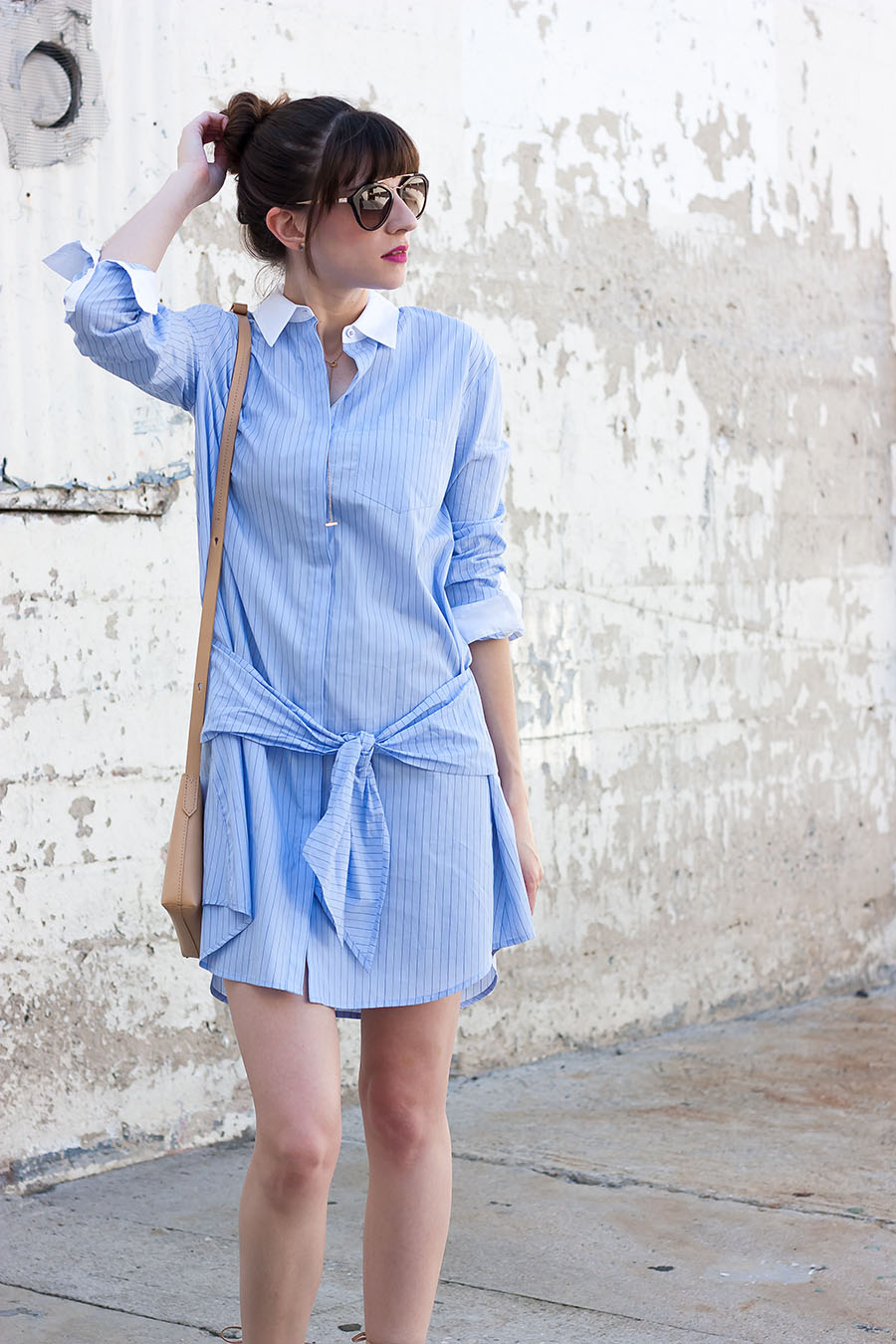 Prada Sunglasses, Tie Waist Dress, Menswear Shirtdress