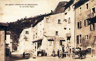 Ascoli com'era: Acquasanta Terme, piazza della Legna ('20)