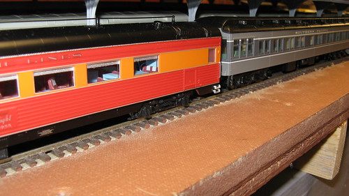 Two flavors of Southern Pacific Railroad passenger train color schemes. by Eddie from Chicago