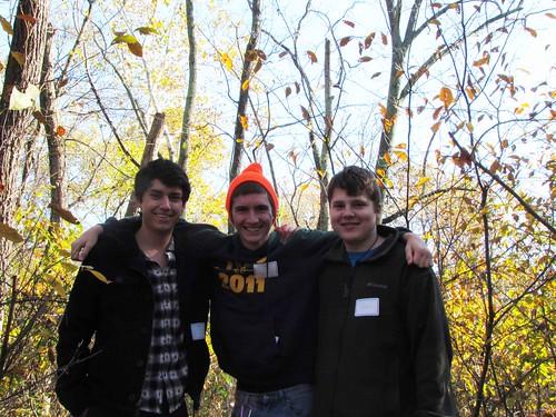 three boys on the Chapman-DeMary Trail