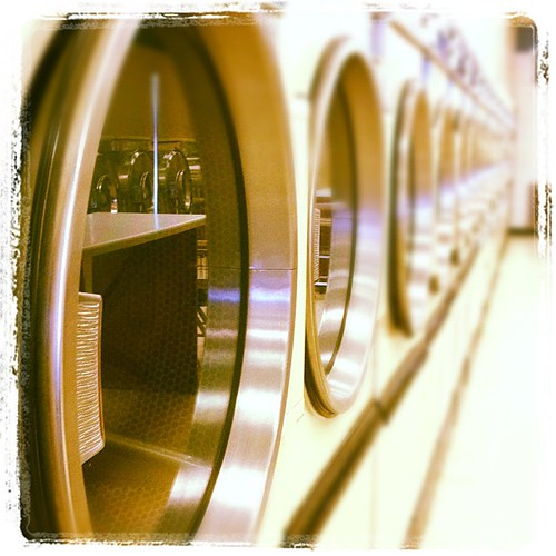 Laundromat. Washing away germs. #begonestomachflu
