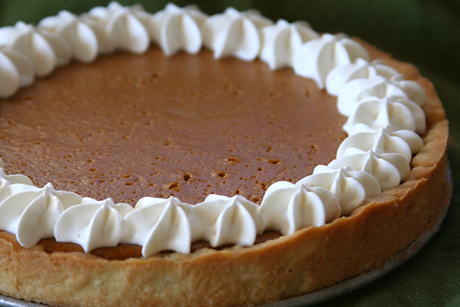 sour cream pumpkin tart 5